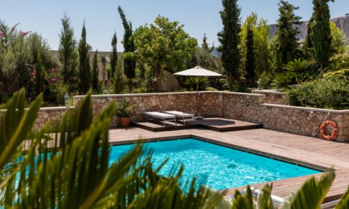 Home backyard pool